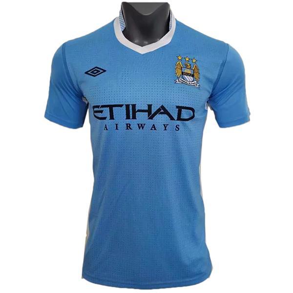 Manchester city home retro soccer jersey sportwear men's 1st soccer shirt football sport t-shirt 2011-2012