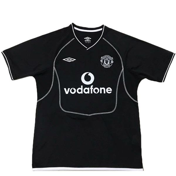 Manchester united away retro jersey black 2000-2002