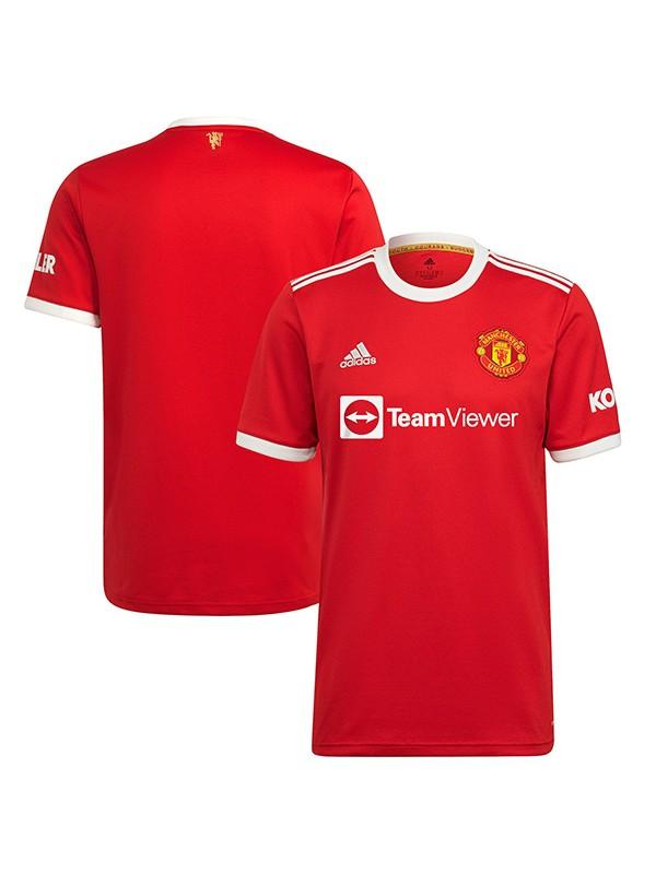 Manchester united maglia casalinga del prima maglia da calcio sportiva da uomo per partita di calcio 2021-2022