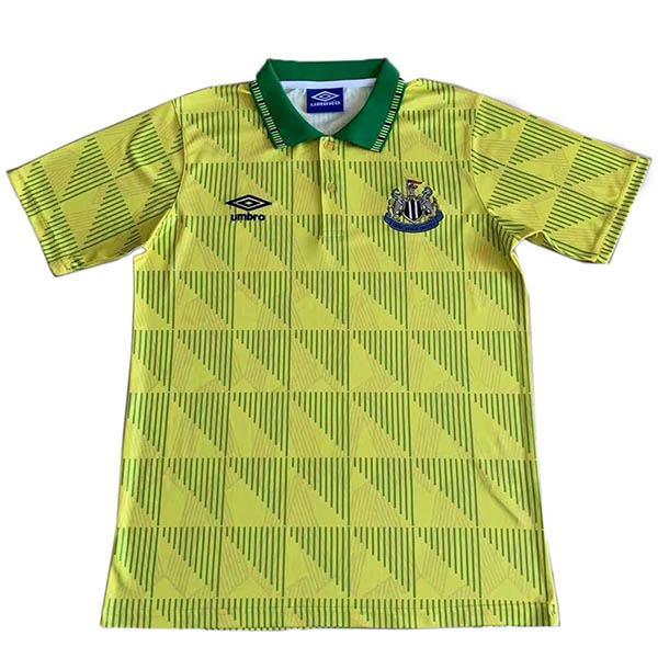 Newcastle United maglia vintage da calcio vintage del da trasferta maglia sportiva da uomo secondo abbigliamento sportivo da calcio 1991