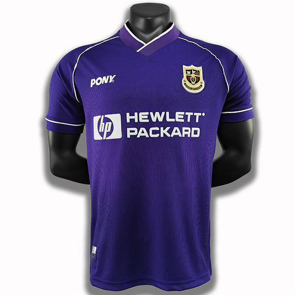 Tottenham hospur away retro soccer jersey maillot match men's second sportwear football shirt 1998