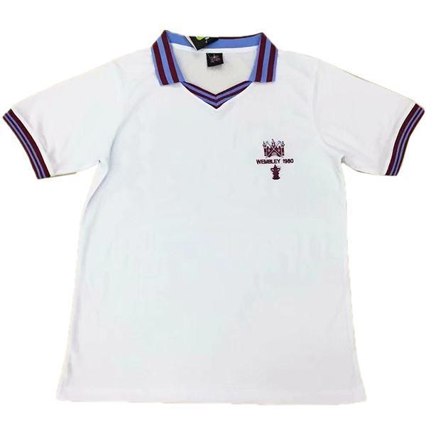 West Ham United maglia da calcio vintage retrò da casa del partita prima maglia da calcio sportiva da uomo 1980-1982