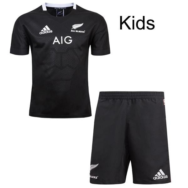 All black home rugby kids kit 2019/20