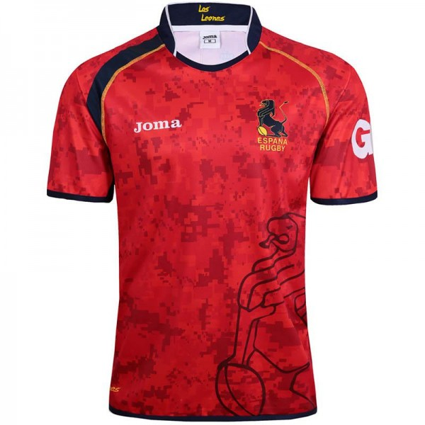 Spain rugby jersey 2017 red