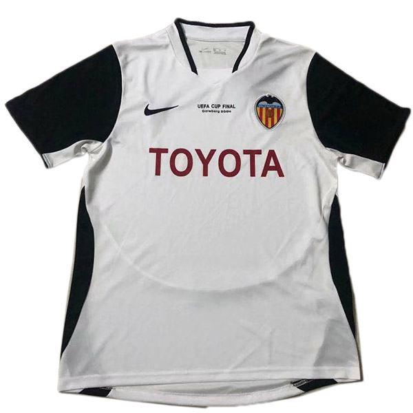 Valencia home retro jersey double champions maillot match men's 1st soccer sportwear football shirt 2003-2004