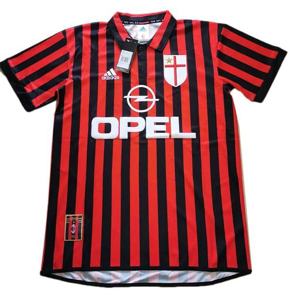 AC milan home maglia da calcio retrò maillot match maglia da calcio da uomo Imagination sportswear 1999-2000
