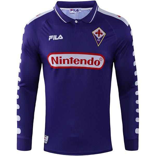ACF Fiorentina home retro soccer jersey long sleeve maillot match men's first sportwear football shirt 1998-1999