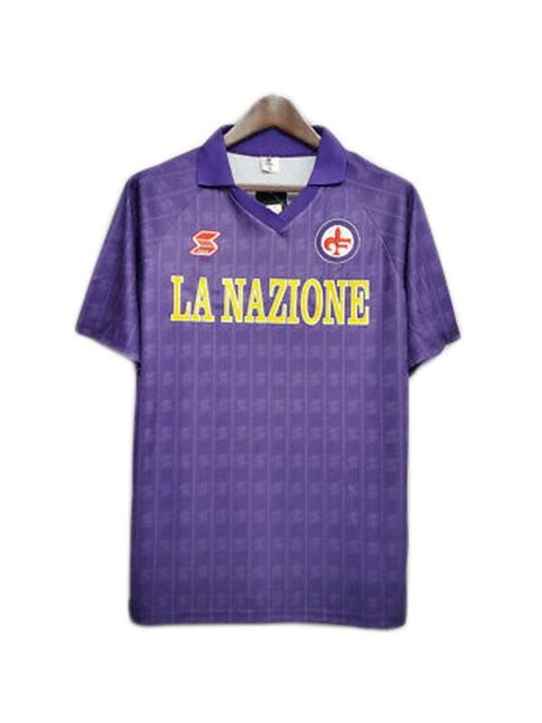 ACF Fiorentina home retro soccer jersey maillot match prima maglia da calcio sportswear da uomo 1989-1990