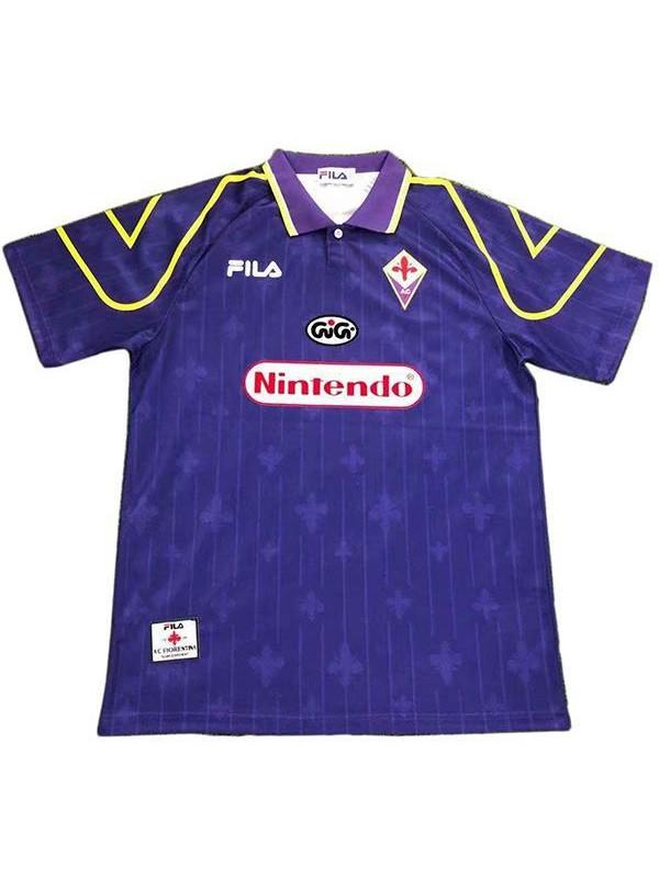ACF Fiorentina home retro soccer jersey maillot match prima maglia da calcio sportiva da uomo 1997-1998