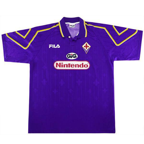 ACF Fiorentina home vintage retro jersey maillot match prima maglia da calcio sportswear da uomo 1997-1998