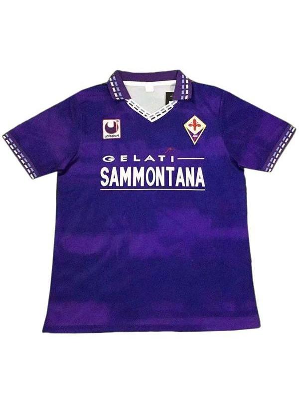 ACF Fiorentina home vintage retro soccer jersey maillot match prima maglia da calcio sportiva da uomo 1994-1995