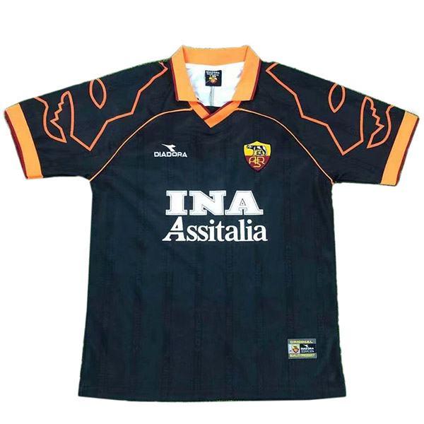 AS roma away retro soccer jersey maillot match seconda maglia da calcio sportiva da uomo 1999-2000