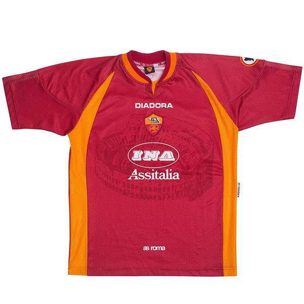 AS roma home retro soccer jersey maillot match prima maglia da calcio sportiva da uomo 1997-1998