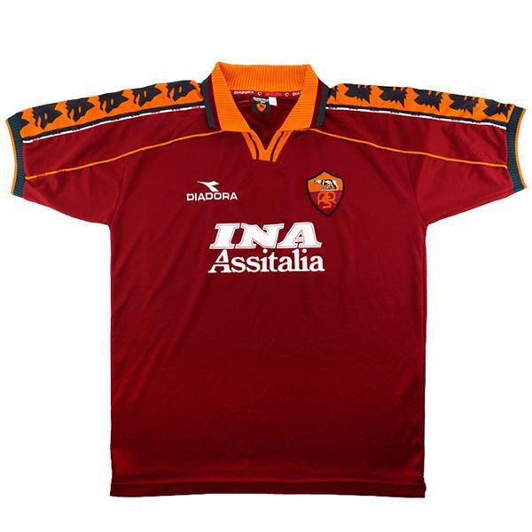 AS roma home retro soccer jersey maillot match prima maglia da calcio sportiva da uomo 1998