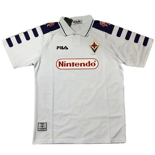 Fiorentina away retro jersey maillot match men's 2ed sportwear football shirt 1998-1999