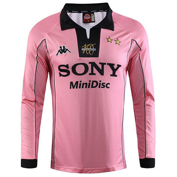 Juventus away retro soccer jersey long sleeve sportwear men's secend soccer shirt football sport t-shirt 1997-1998