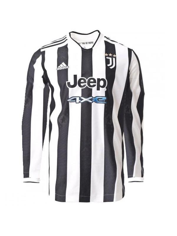 Juventus maglia manica lunga casalinga abbigliamento sportivo kit da calcio prima maglia da uomo t-shirt sportiva da calcio 2021-2022