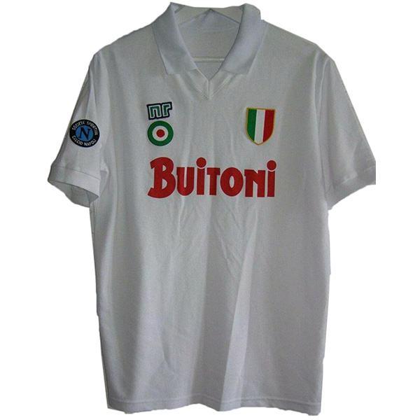 Napoli away retro soccer jersey sportwear men's second soccer shirt football sport t-shirt 1987-1988