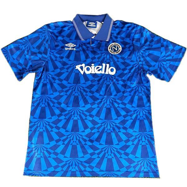 Napoli retro soccer jersey maillot match men's sportwear football shirt blue 1991-1993