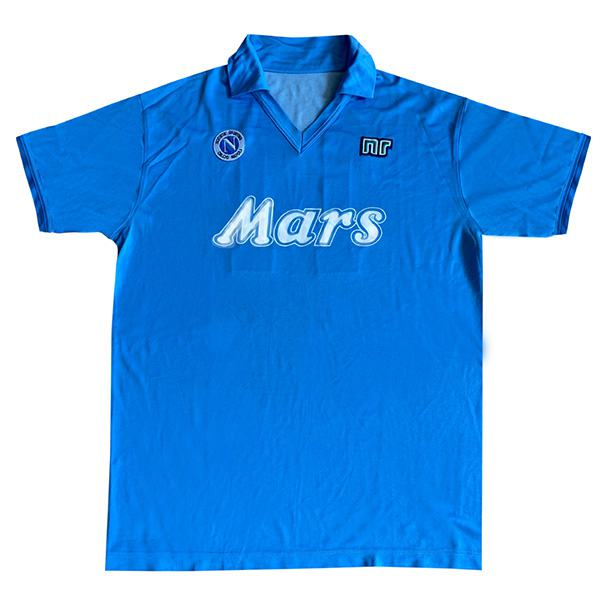 Napoli retro soccer jersey maillot match men's sportwear football shirt yellow green 1988-1989