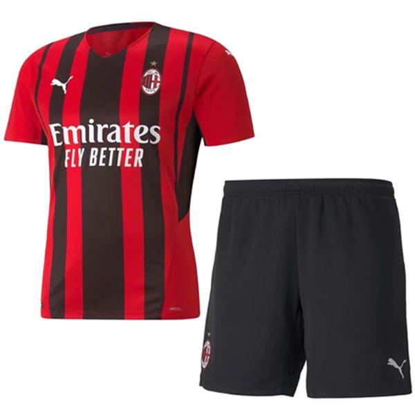 AC milan calcio per bambini kit home bambino prima maglia da calcio maillot match divise giovanili 2021-2022