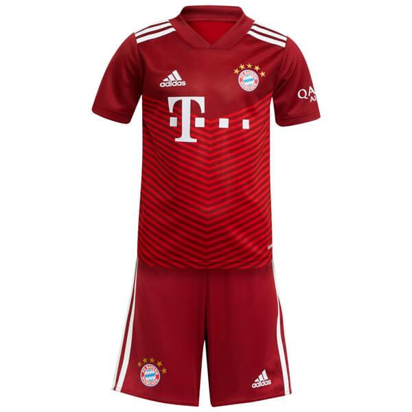 Bayern Monaco home kids kit soccer bambini prima maglia da calcio mini maillot match uniformi giovanili 2021-2022