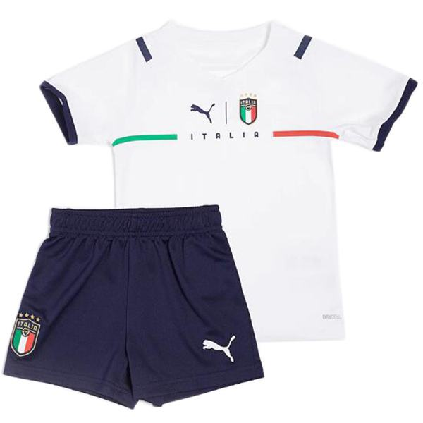 Italia maglia da trasferta dell'da bambino calcio per bambini prima maglia da calcio mini maglia maillot match divise giovanili bianche 2021