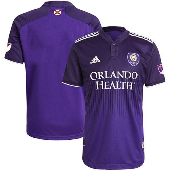 Orlando City SC maglia personalizzata home autentica t-shirt sportiva da calcio prima maglia da calcio da uomo abbigliamento sportivo 2021