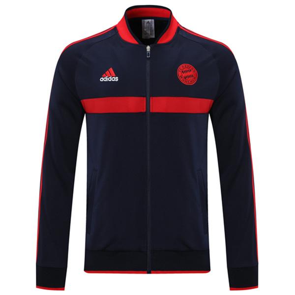 Bayern Monaco giacca calcio abbigliamento sportivo tuta con cerniera intera maglia da allenamento da uomo atletica outdoor cappotto da calcio nero rosso 2021-2022