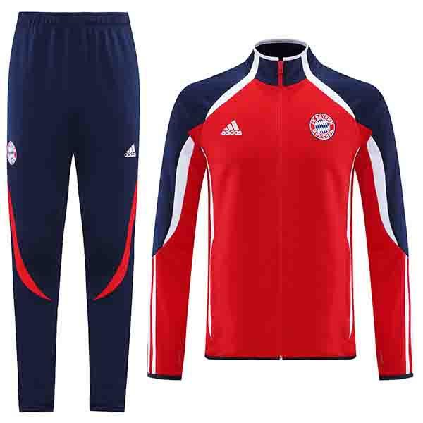 Bayern munich jacket football sportswear tracksuit full zipper men's training jersey athletic outdoor soccer red coat 2021-2022