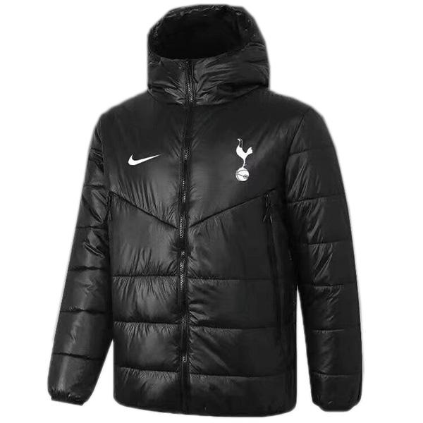 Tottenham Hotspur felpa con cappuccio invernale in cotone giacca da uomo abbigliamento caldo giacca a vento atletica da calcio all'aperto cappotto nero 2021-2022
