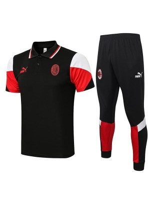 AC milan maglia da allenamento polo soccer teal match uomo sportswear football t-shirt nera 2021-2022