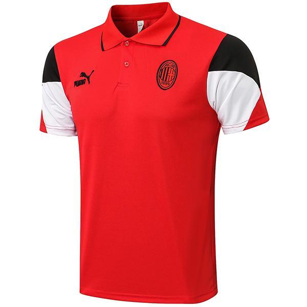 AC milan polo maglia da allenamento calcio teal match uomo sportswear calcio t-shirt rossa 2021-2022