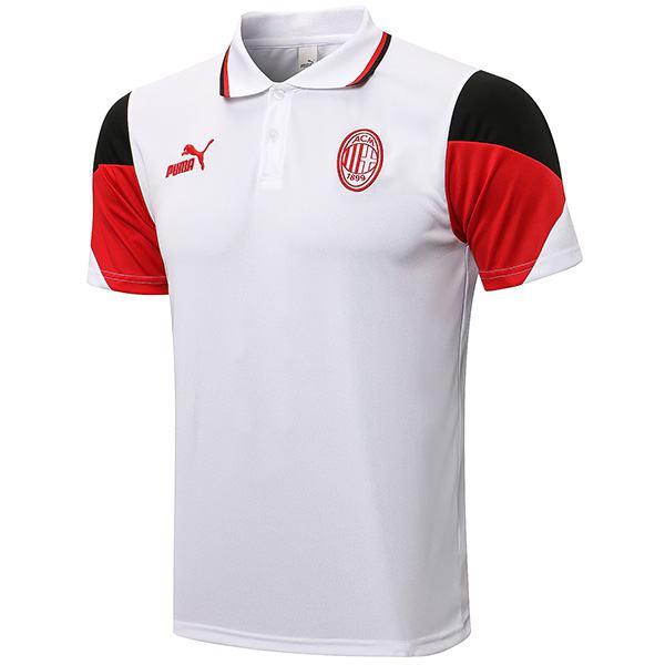 AC milan polo maglia da allenamento calcio teal match uomo sportswear calcio t-shirt bianca 2021-2022