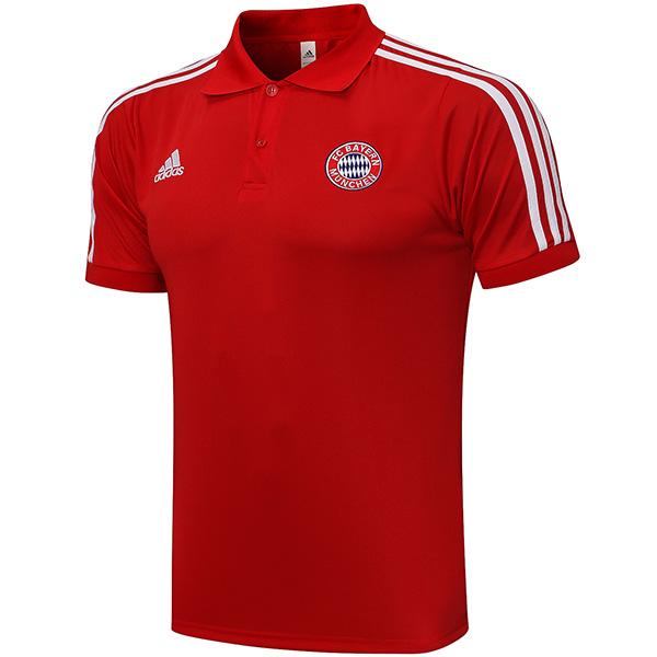 Bayern Monaco polo maglia allenamento partita di calcio abbigliamento sportivo da uomo magliette da calcio maglia sportiva rossa 2021-2022