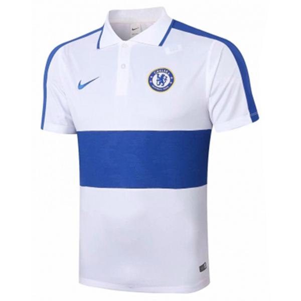 Chelsea Polo Jersey Football Training Jersey Soccer Teal maillot domicile match men's sportwear football t-shirt white blue 2020-2021