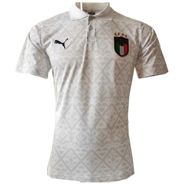 Italy Polo Jersey Football Training Jersey Soccer Teal maillot domicile match men's sportwear football t-shirt white 2020