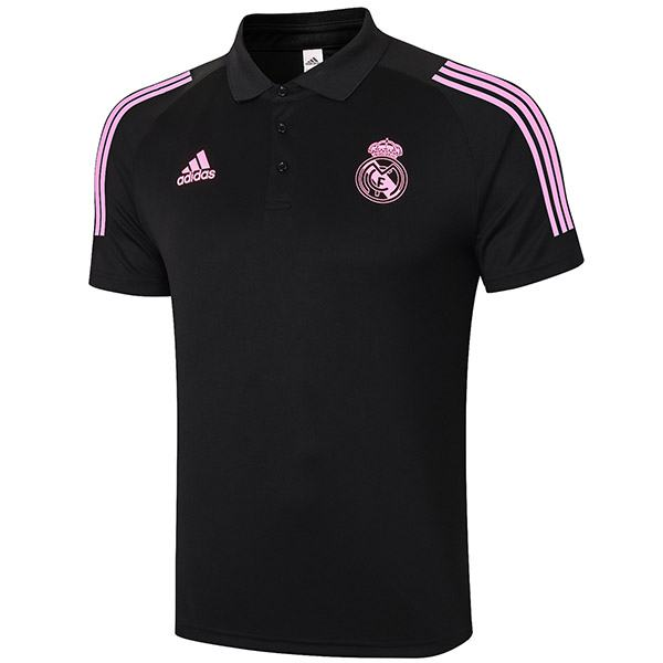 Real madrid polo jersey football training jersey soccer teal maillot domicile match men's sportwear football t-shirt black 2020-2021