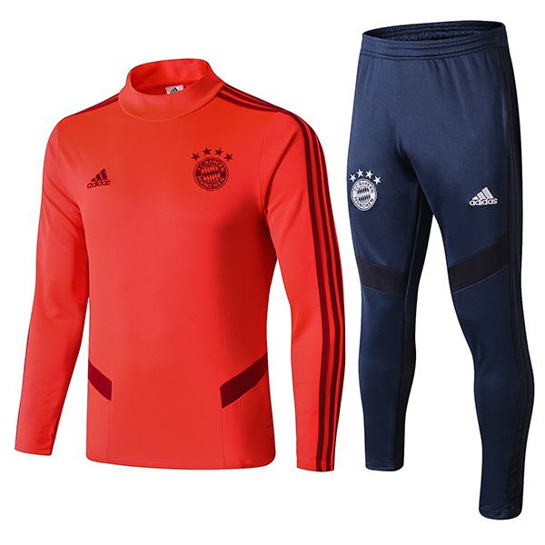 Bayern Munich Tracksuit Soccer Pants Suit Sports Set Necked Cleats Men's Clothes Football  Red Training Jersey Navy 2019