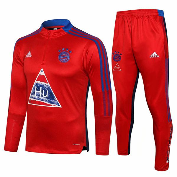 Bayern munich tracksuit soccer pants suit sports set necked cleats men's clothes football training jersey red 2021-2022