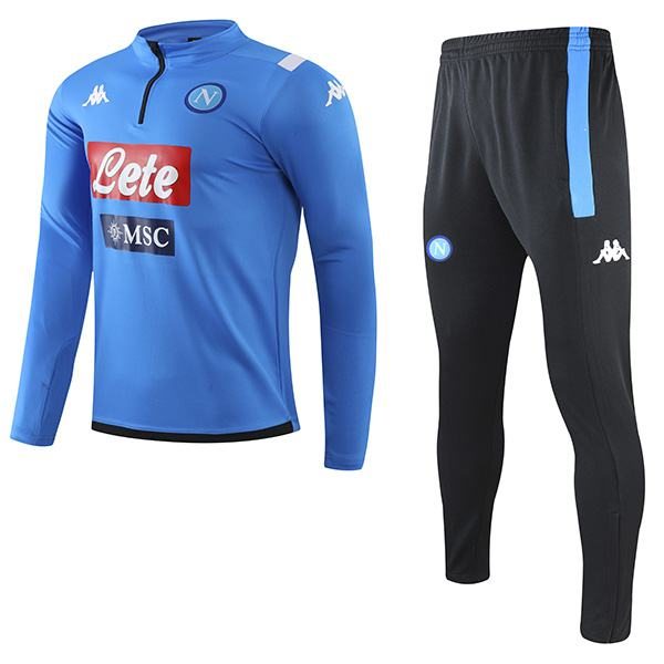 SSC Napoli Tracksuits Soccer Pants Suit Sports Set Necked Cleats Men's Clothes Football Blue Training Jersey 2020-2021