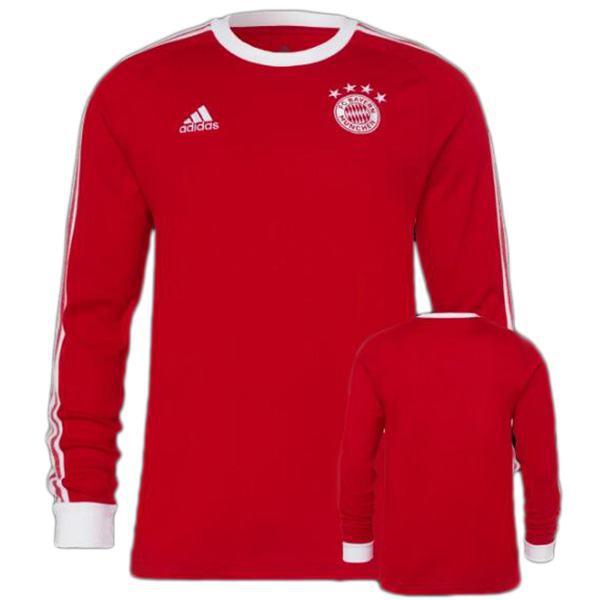 Bayern monaco home retro vintage maglia da calcio manica lunga partita prima maglia da calcio sportiva da uomo rossa