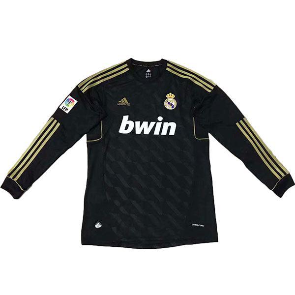 Maglia retro manica lunga Real Madrid away nera 2012
