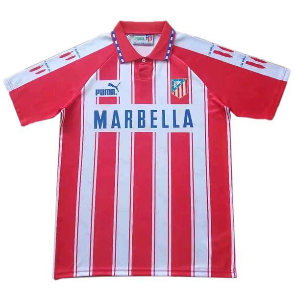 Atlético de Madrid home retro jersey vintage soccer match prima maglia da calcio sportswear da uomo 1994-1995