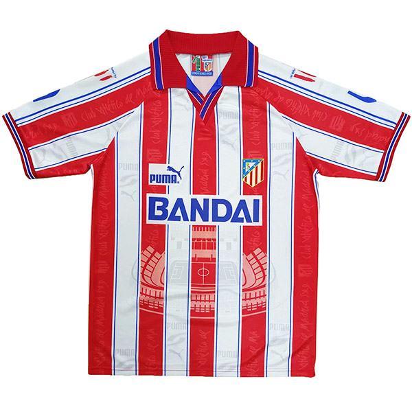 Atlético de Madrid home retro jersey vintage soccer match prima maglia da calcio sportswear da uomo 1996-1997