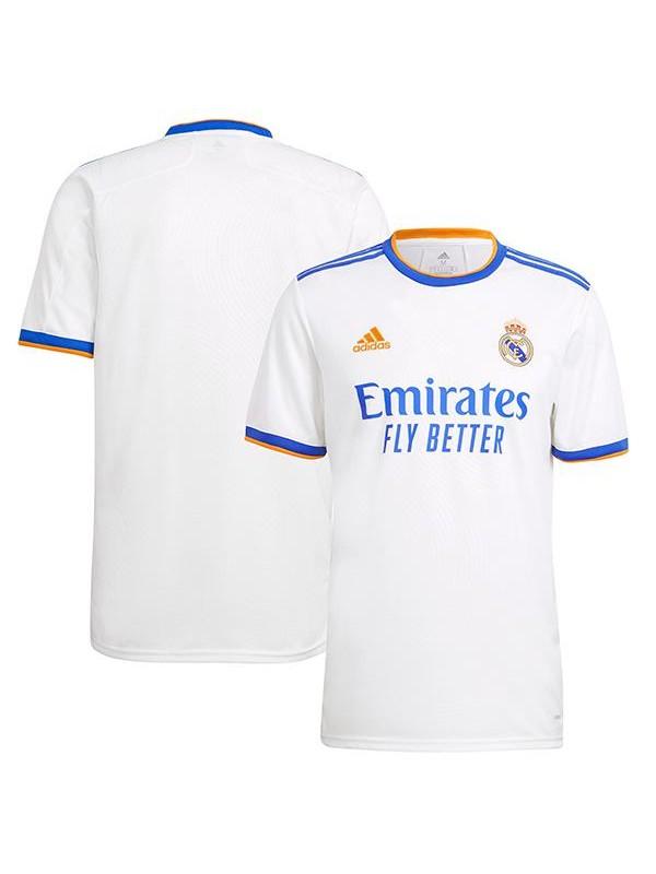 Real madrid maglia casalinga del abbigliamento sportivo kit da calcio prima maglia da uomo t-shirt sportiva da calcio 2021-2022