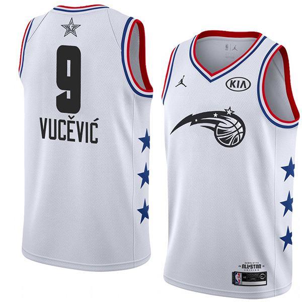 2019 All Star Game Men's Magic Nikola Vucevic Jordan Brand White NBA Swingman Jersey