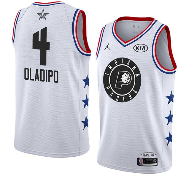 2019 All Star Game Men's Pacers Victor Oladipo White Jersey