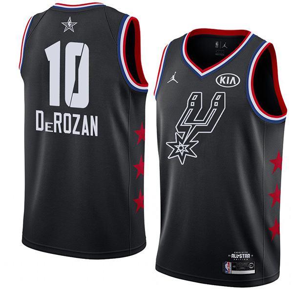 2019 All Star Game Men's Spurs LaMarcus Derozan Black Jersey