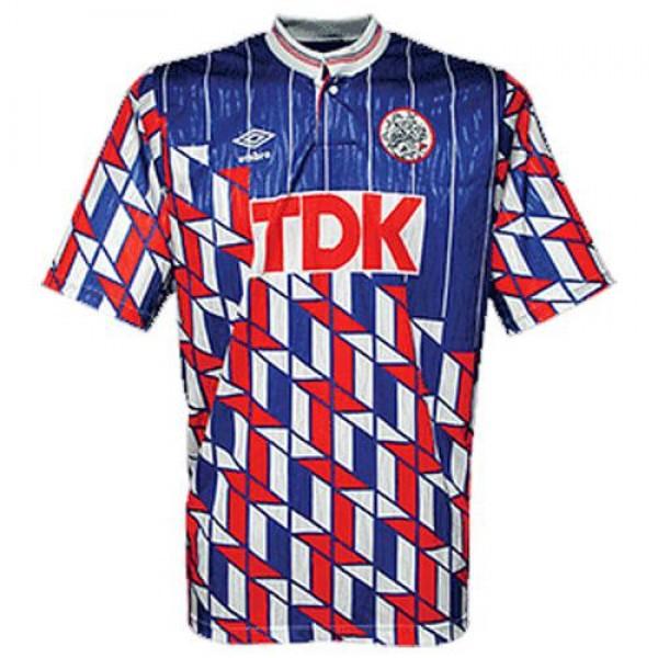 Ajax away retro soccer jersey maillot match men's 2ed sportwear football shirt 1988-1991